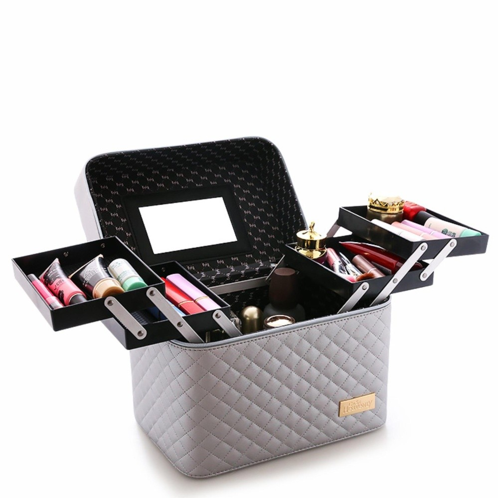 With 4 Lift Drawer Pu Leather Cosmetic Bag Make Up Storage Box Professional Makeup Bag Sliver 1505867926 24676029 B4b0af35a234b1f27d01521baf2d3fc6